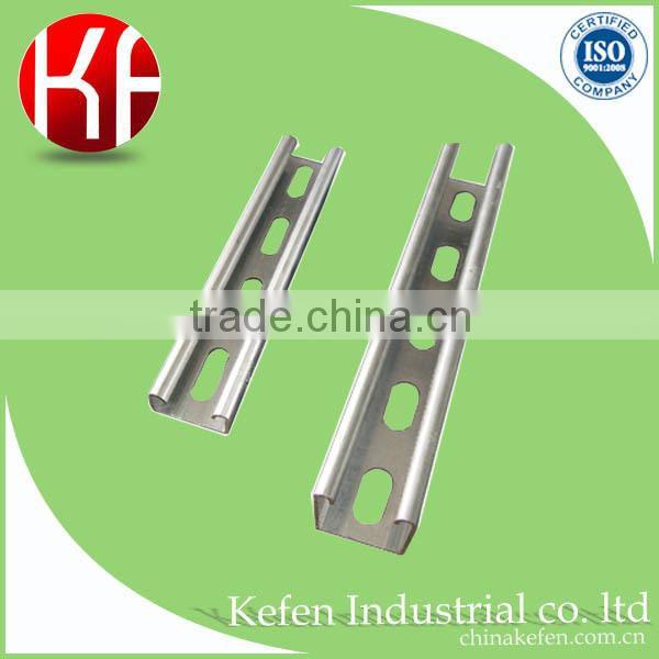 Hanging pipe system strut slotted galvanized plain type u