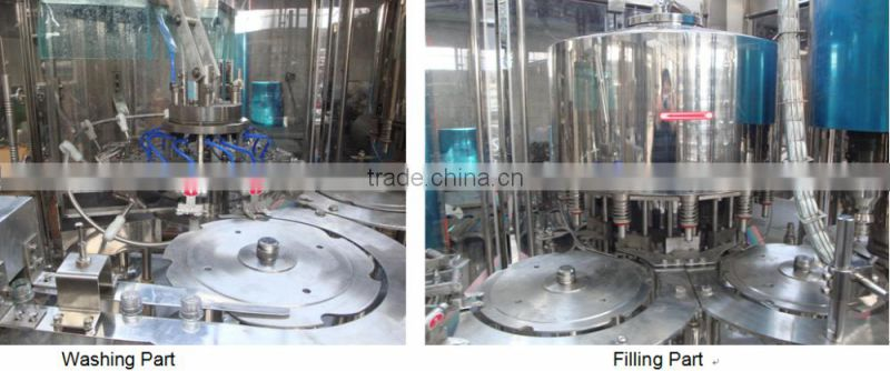 Automatic purified PET bottle drinking water production line