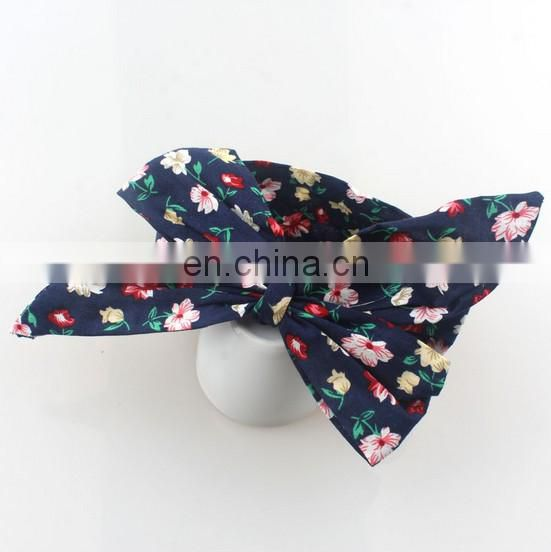 Baby Messy Bows Headband Flora Headwrap Soft Cotton Knotted Headband For Baby First Birthday