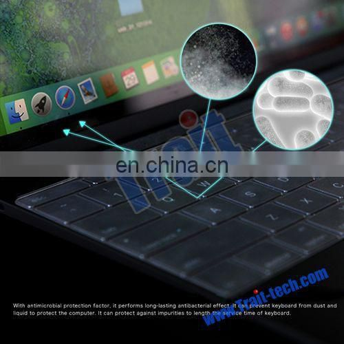 Cheap Price ROCK Ultrathin 0.13mm Waterproof Washable Keyboard Cover Skin for Apple Macbook 12''