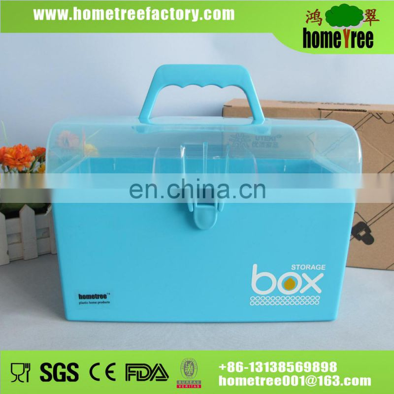 2015 fashion designed korean plastic storage box with dividers