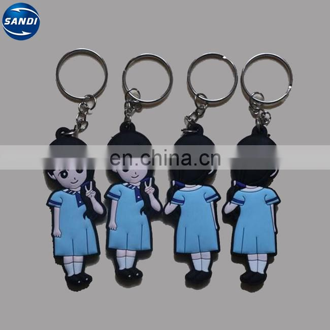 Promotional custom rubber keychain with logo