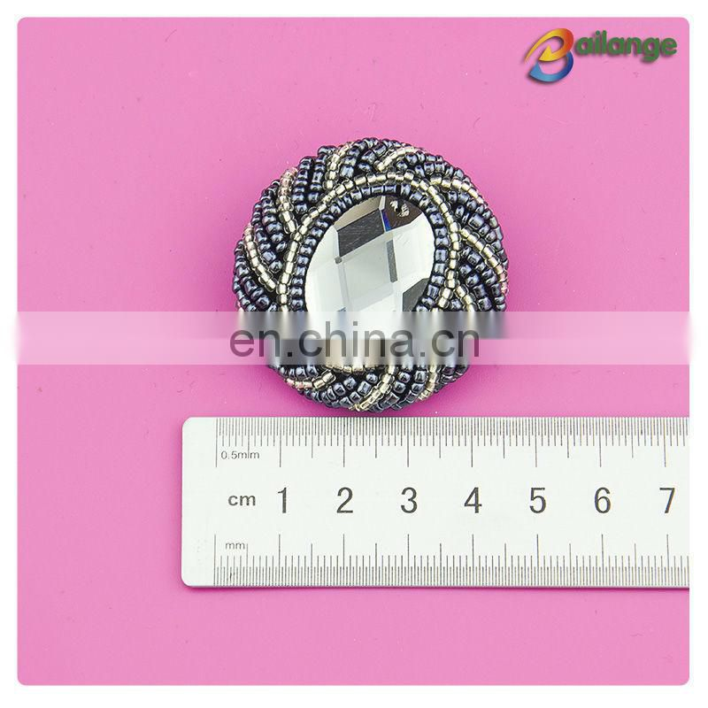 Wholesale fancy designer coat clothing buttons beaded buttons china button factory