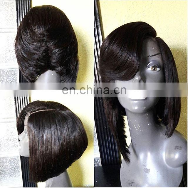 130% density short human hair wig Pre Plucked dreadlocks wig lace front wig