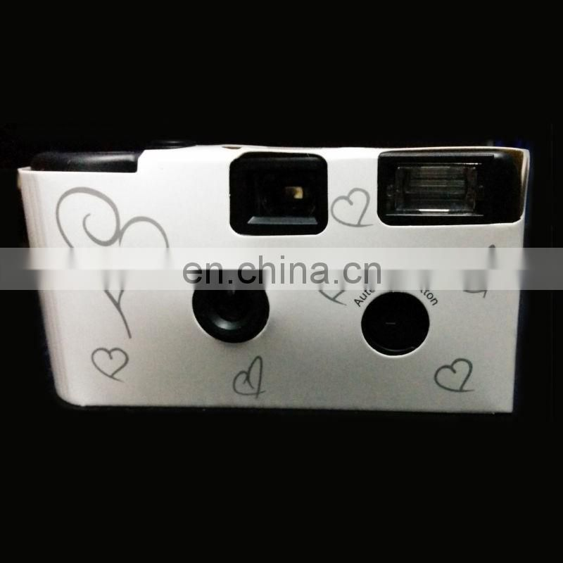 HEARTS DISPOSABLE WEDDING Bridal CAMERA WITH FLASH 35mm