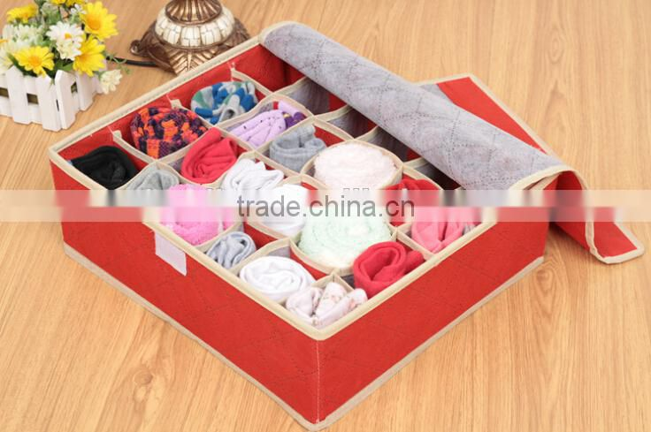 Two Layers of Folding Underwear Drawer Organizer