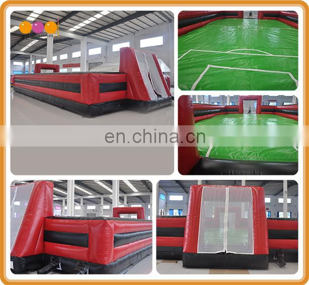Portable soccer wall inflatable soccer arena, inflatable football field for playground