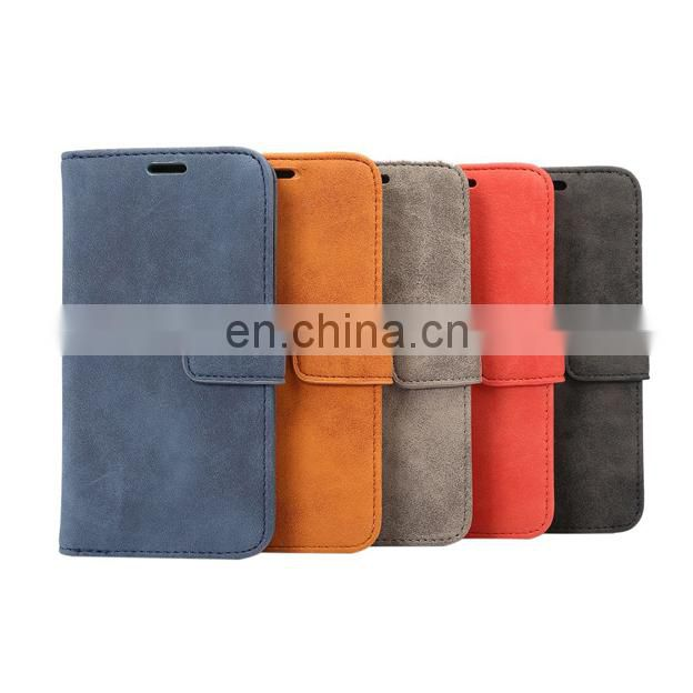 Wallet style PU Leather + Soft TPU Magnetic Buckle with Card Slots for iPhone 8