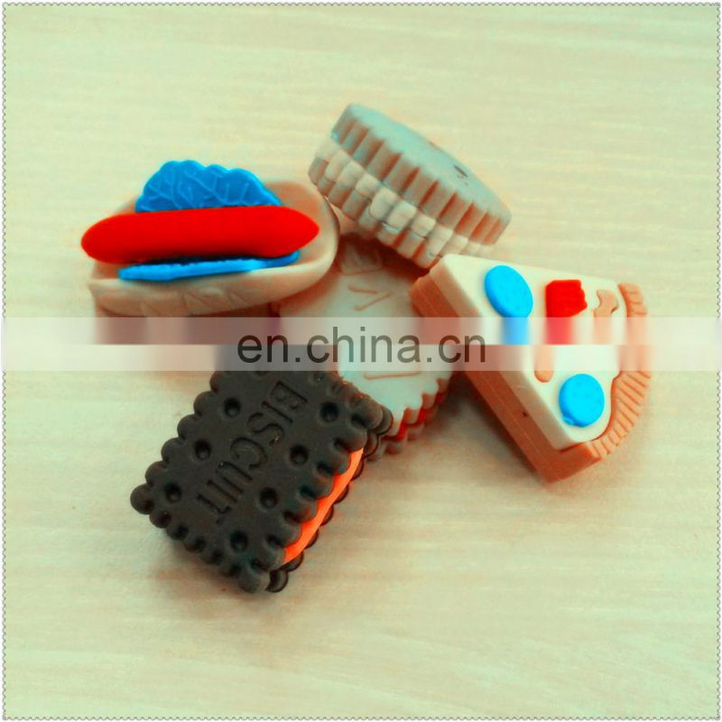 3D Soft Food Shape rubber Eraser