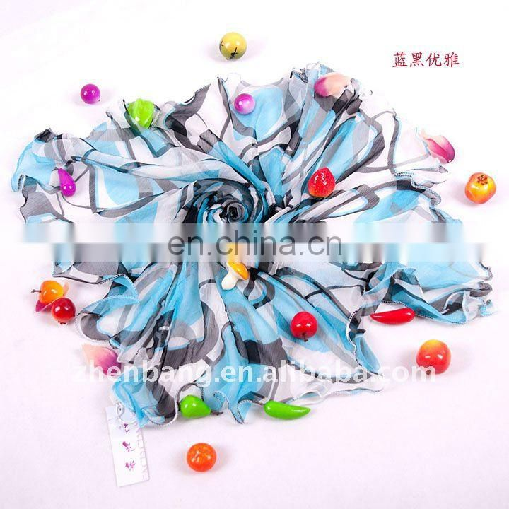 New Style Gradient Printed Square Silk Scarf