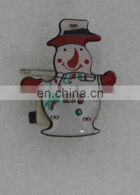 Magnetic Christmas badge funny led flashing badge cute cartoon badge