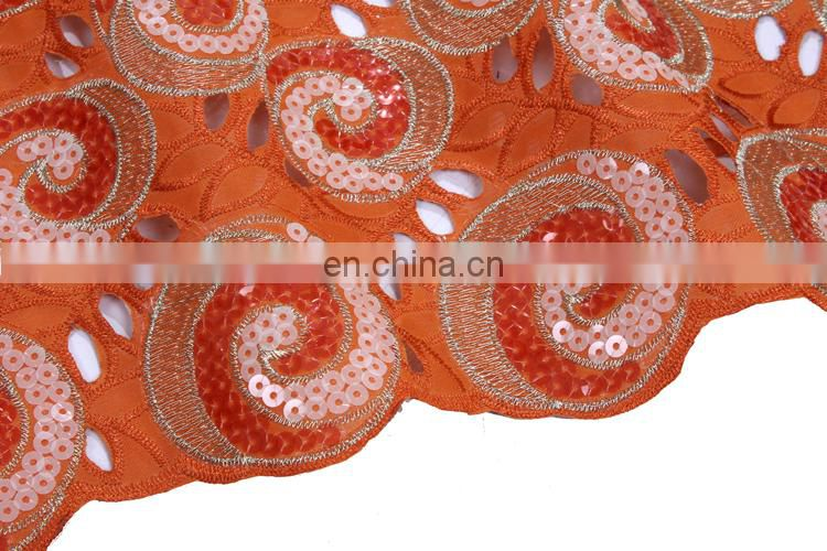 Best quality and fashionable embroidered organza lace fabric for party and tradtional wedding