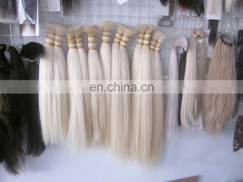 Factory Price Top Quality Remy Beautiful color 613 Blonde Hair Extensions,Indian Hair Bulk Extension