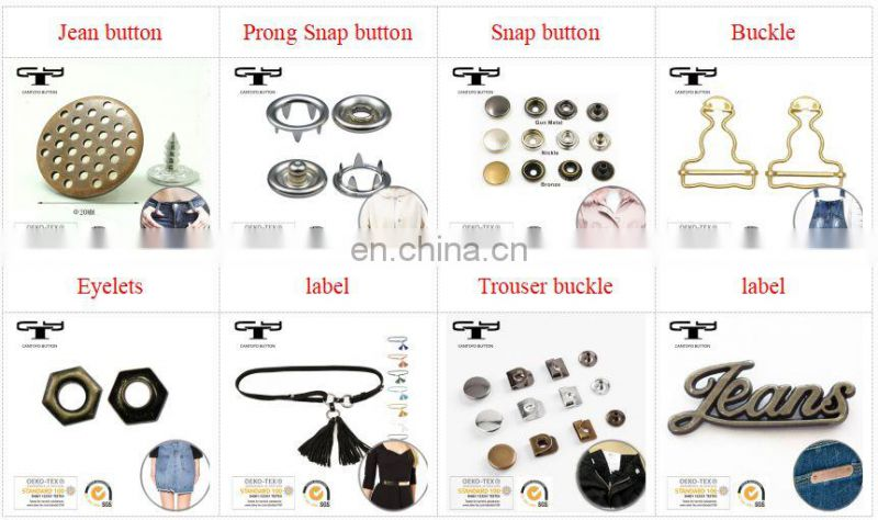 brass metal buttons /square button snap /fastener button for denim jeans