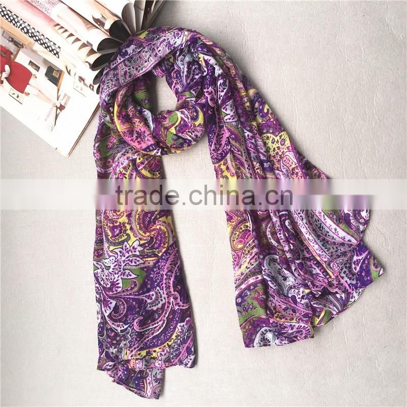 2016 newest design viscose scarf
