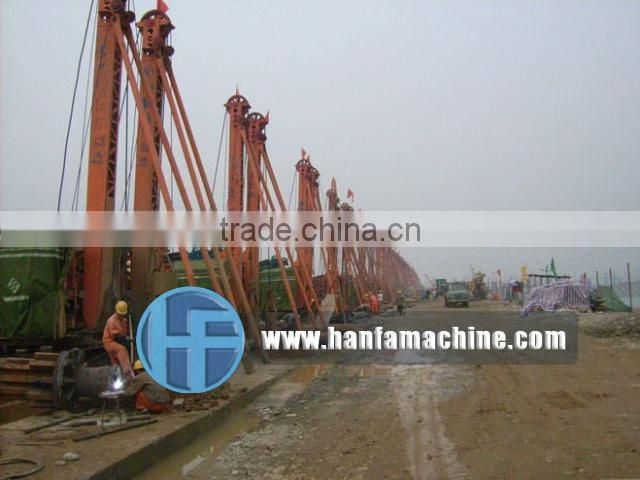HF-6A Percussion type borehole drilling rig for piling foundation