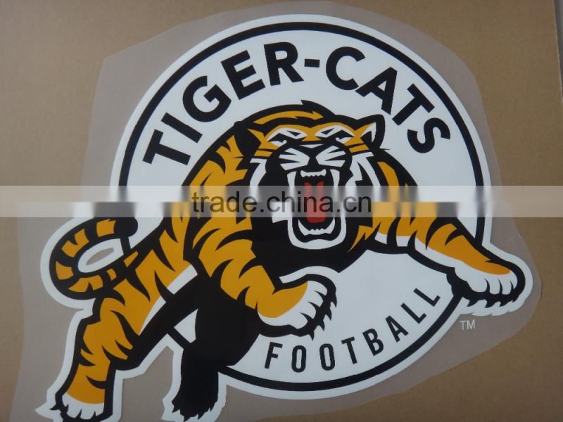 Custom Heat Transfer Sticker Basketball/Football Team Logo Plastisol Transfer For T-shirt