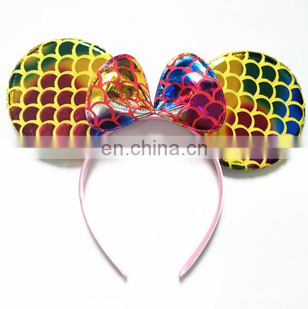 multicolor mermaid ear mickey mouse ear headband