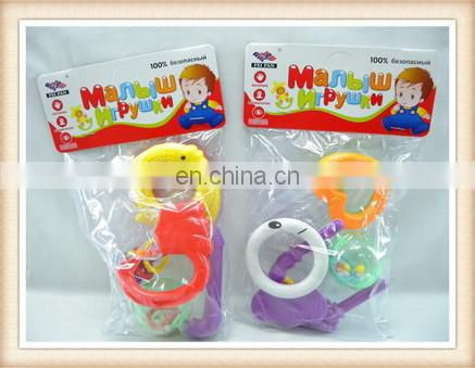 plastic baby rattle toys,jingle bell toy tambourines