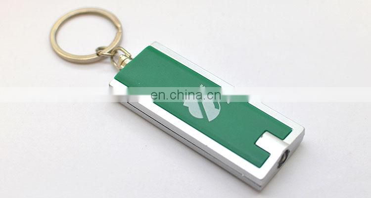 Wholesale cheap metal keychain with led light