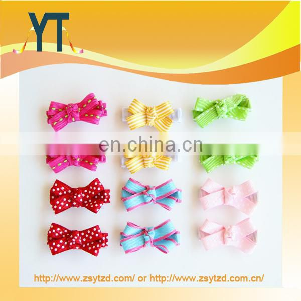 Polka Dot Style Satin Wholesale Hair Bow/Barrette/Hair Pin That You Like