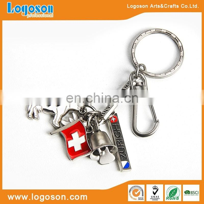 2018 High Quality Switzerland Custom Metal Carabiner Pendents Keychain