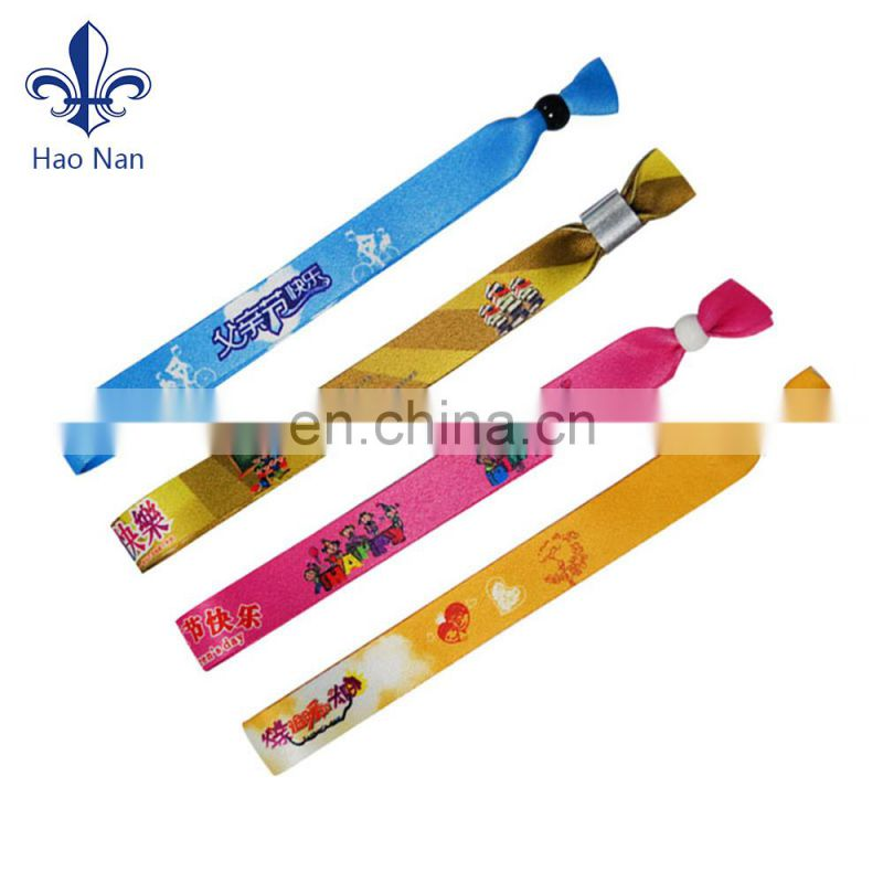 Exhibition souvenir gifts printed fabric wristband for advertising