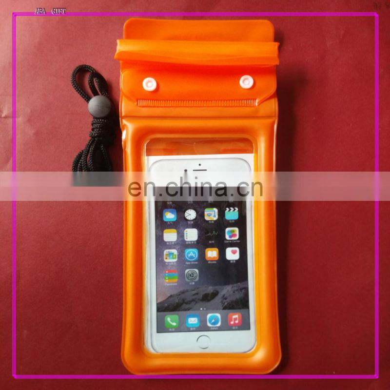High Quality waterproof transparent blue PVC cell phone holder