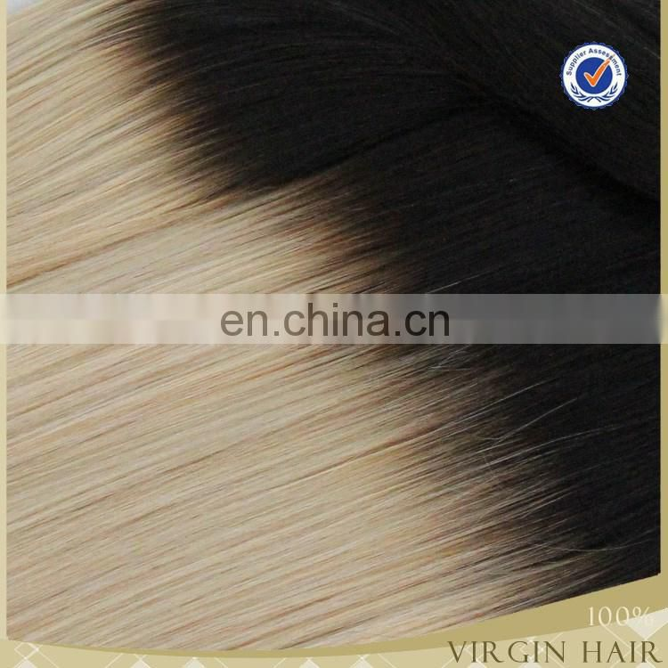 Wholesale price top quality 7a brazilian ombre weave hair