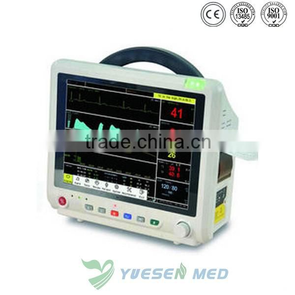 YSPM500V 12.1' inch colored, high definition TFT screen vet multi-parameter patient monitor