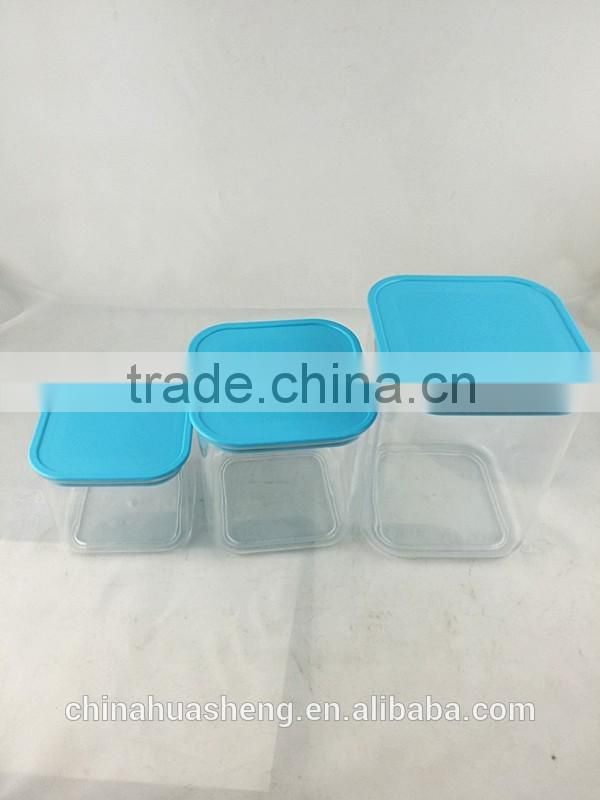BPA Free New Design PS candy box square dry food box seal pot for food factory price custom color custom logo
