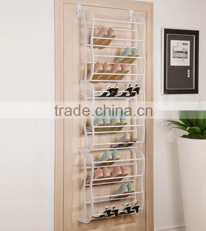 Wholesale folding space saver bamboo shoe rack