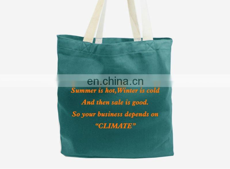 Printed cotton twill shopping bags