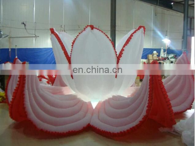 inflatable sun flowers with LED lights for stage decorations