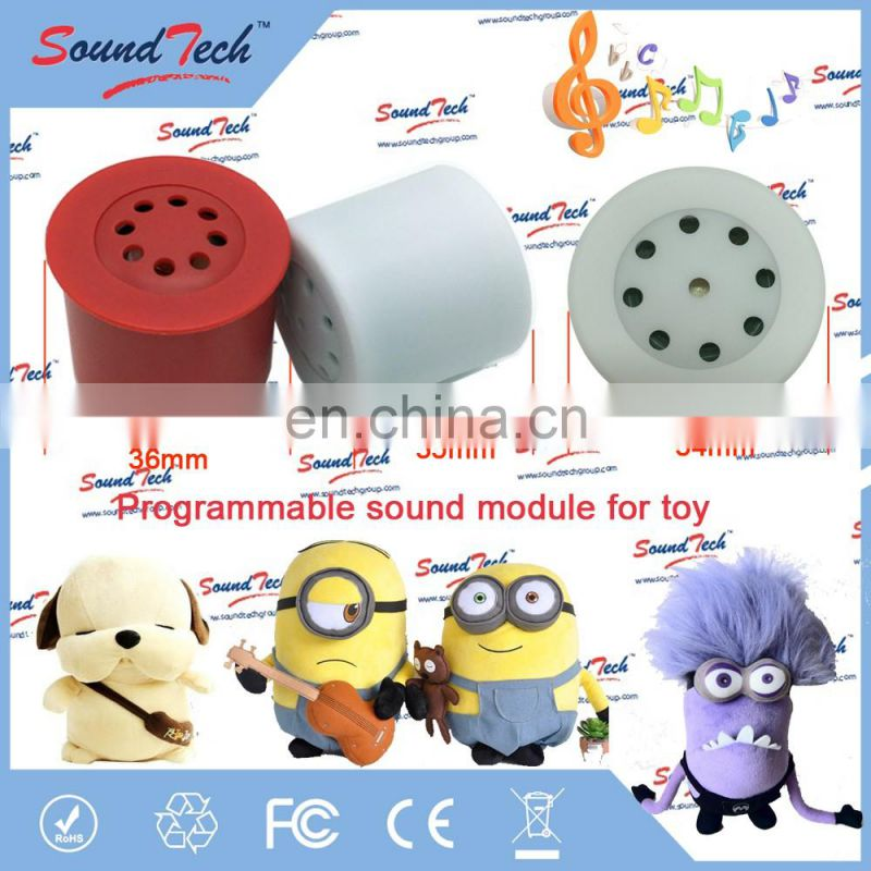 Multiple Message Recorder Re-recordable Sound Module for Stuffed Animal Inserts