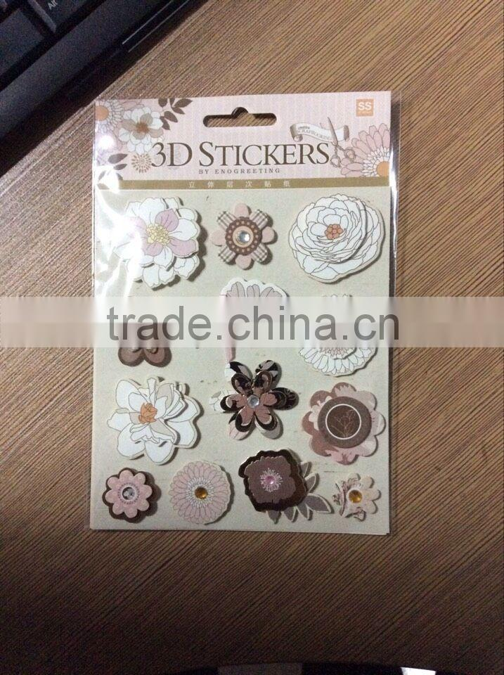 3d home decor christmas sticker