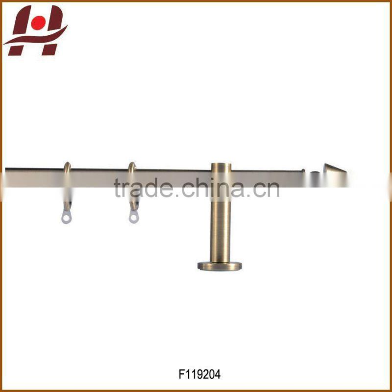 F119204 metal iron aluminium stainless steel brass plated plain twisted extensible telescopic window curtain poles rods pipes Image