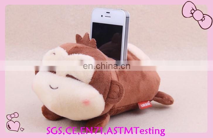soft plush high quality teddy bear plush phone holder