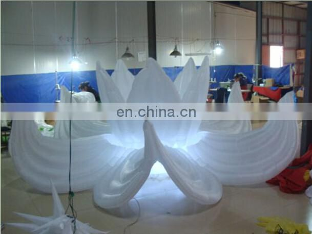 warehouse custom giant led inflatable seashell decoration/inflatable stage with led light/ inflatable cowry shells for sale