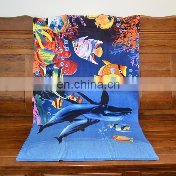 Promotional/Wholesaler Beach Towel Printed Custom Reactive Printed Beach Towel