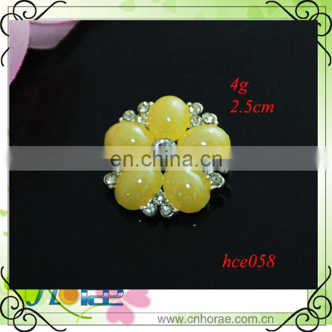 silver alloy button rhinestone accessories button for craft and hair accessory handmade