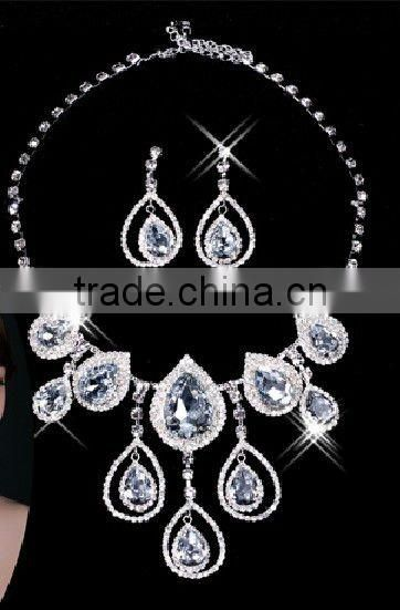 Free Shipping Bridal Bridesmaid Earring Wedding Necklaces Vintage Jewelry Sets CWFan4892