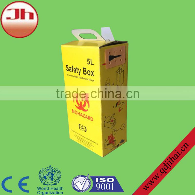 chinese exports to russia syringes with plastic needle box,medical safety box for syringe