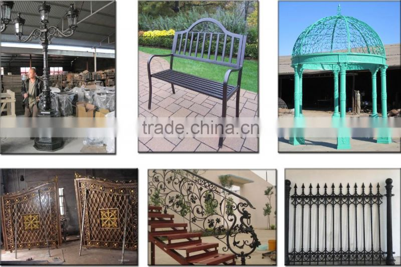 New design wrought iron patio bench for sale NTIRH-001Y