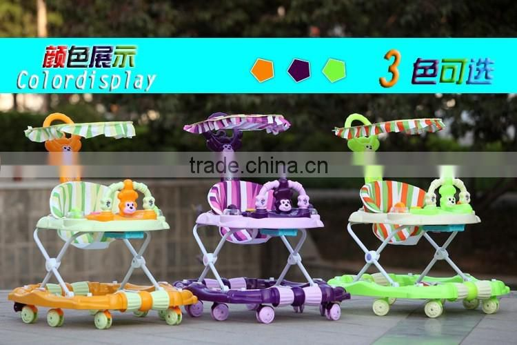2016 China Manufacture New Model Pusher Baby Walker With Toys Music