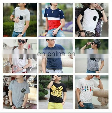 2014 Peijiaxin Latest Design Casual Style O-neck Bulk Blank Plain T-shirts