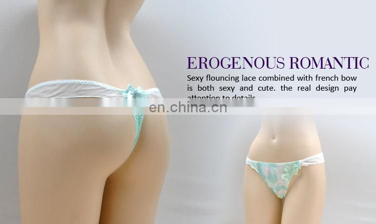 For Sale Graceful Young Lady Bow Tie Cotton Women Underwear