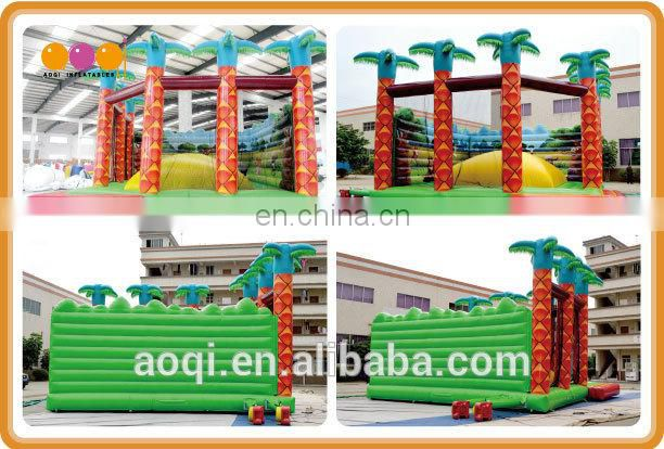 AOQI outdoor coco tree inflatable soft mountain climbing game for sale