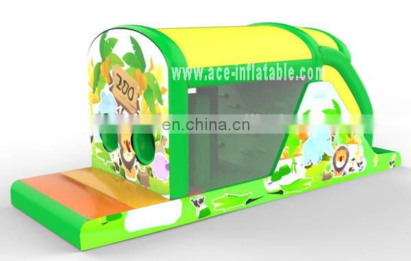 New design zoo/animal theme castle with slide