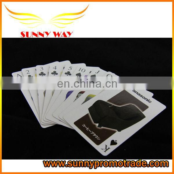 New style cartoon poker with logo made in china